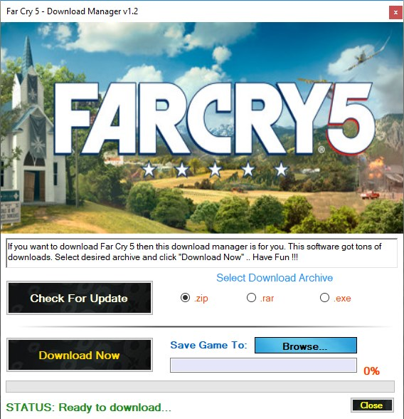 Far Cry 5 Download Manager