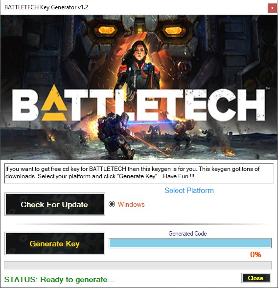 generate BATTLETECH free cd key for steam