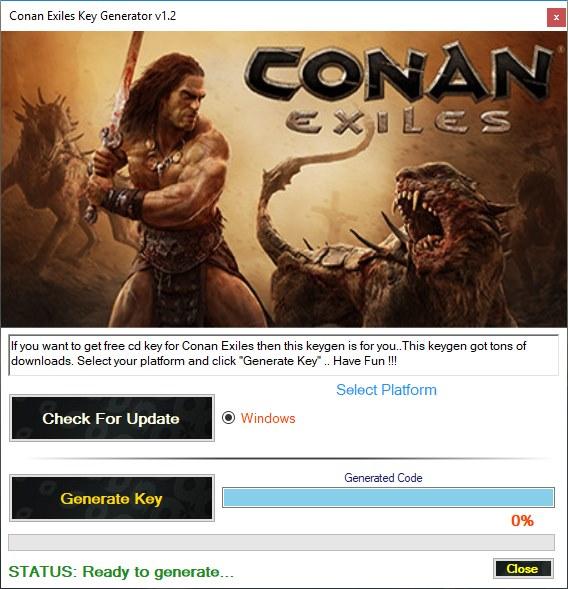 Conan Exiles Key Generator Download