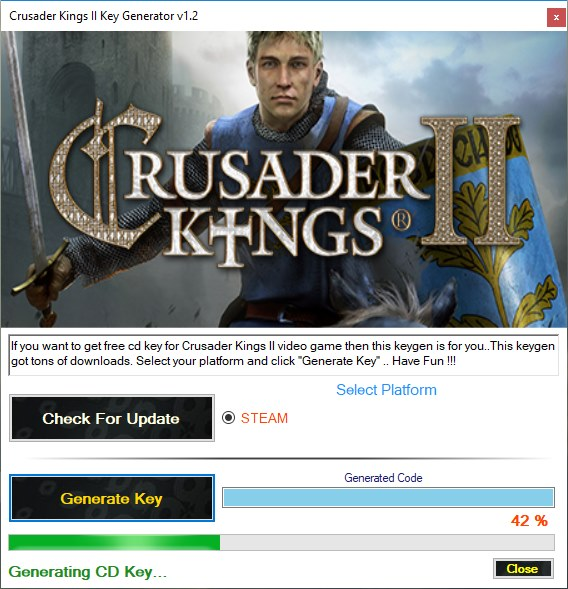 Crusader Kings II cd key generator 2018