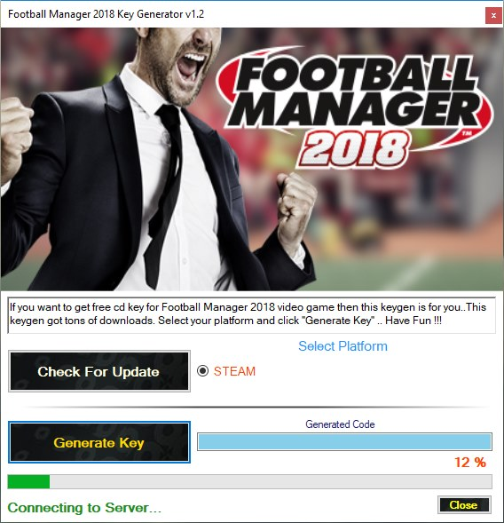 Football Manager 2018 steam keygen download
