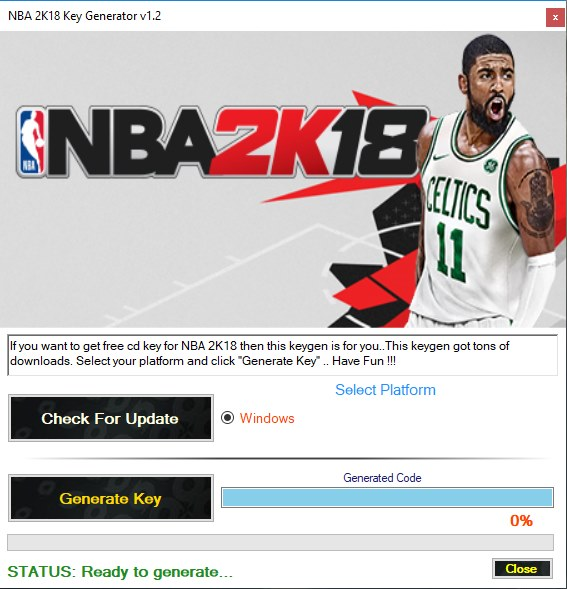 NBA 2K18 Key Generator Download