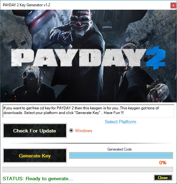 PAYDAY 2 key generator download