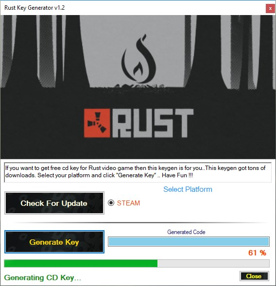 rust steam key generator download