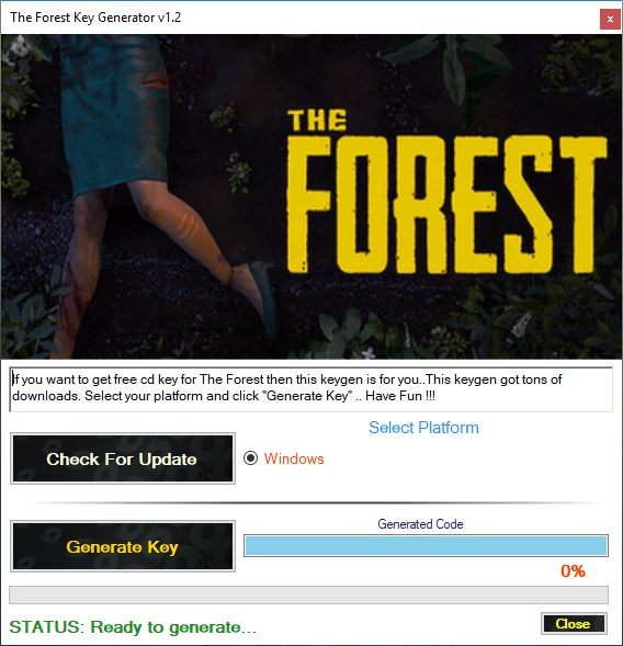 The Forest CD Key Generator Download Free