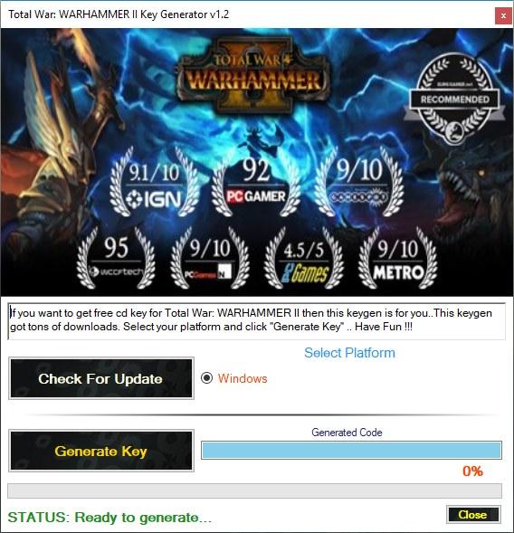Total War WARHAMMER II Key Generator Download Free