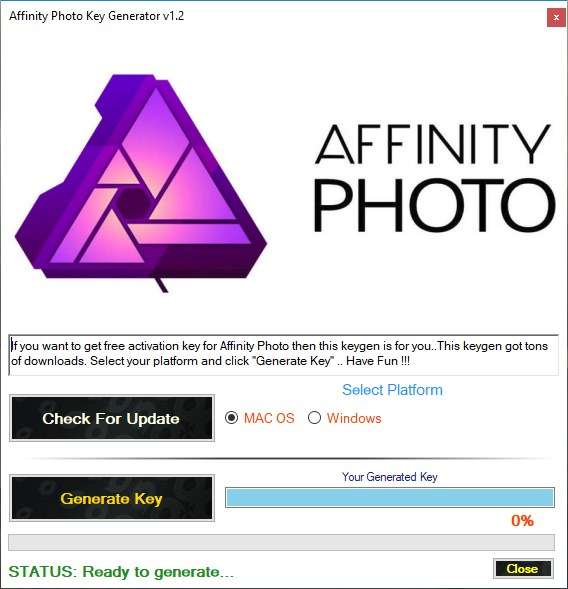 Affinity Photo Key Generator Download