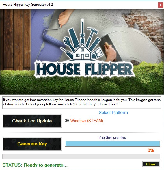 House Flipper Key Generator Download