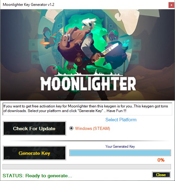 Moonlighter Steam Key Generator Download