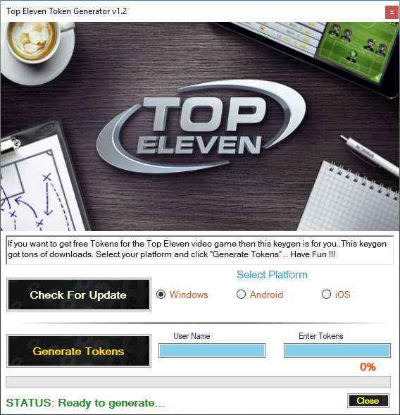 Top Eleven Token Generator Tool