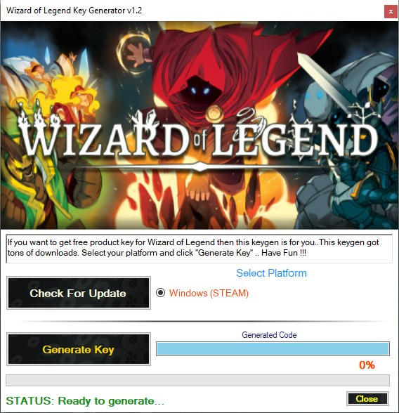 Wizard of Legend Key Generator Download Free