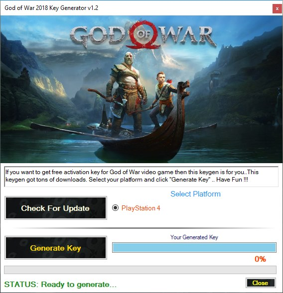 God of War PS4 Key Generator Download