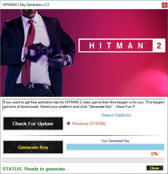 HITMAN 2 Beta Key Generator Download