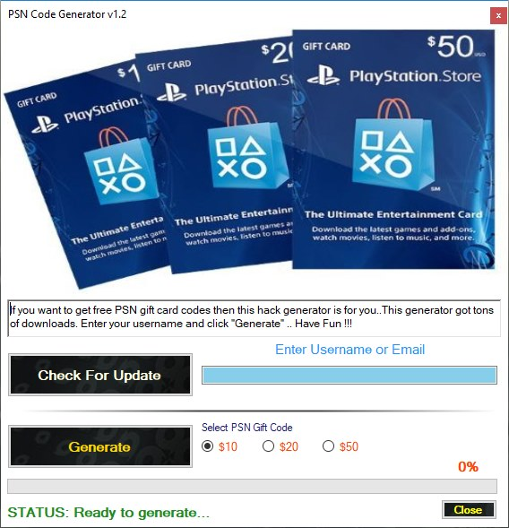PSN Code Generator Download