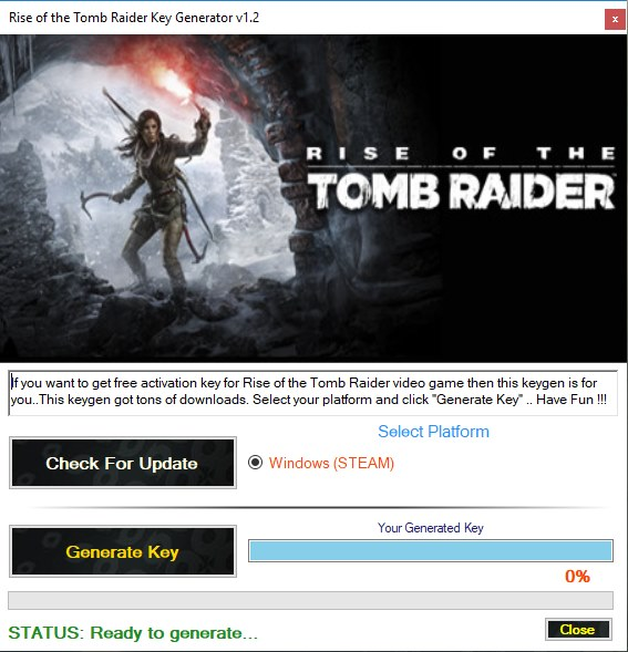 Rise of the Tomb Raider Key Generator Download