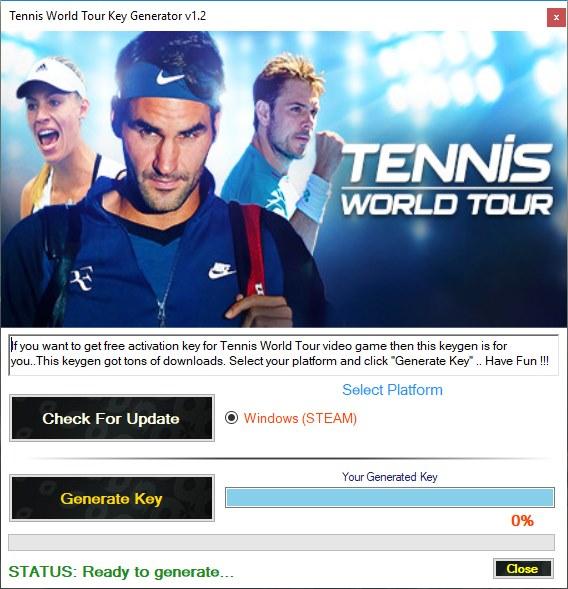 Tennis World Tour key generator download