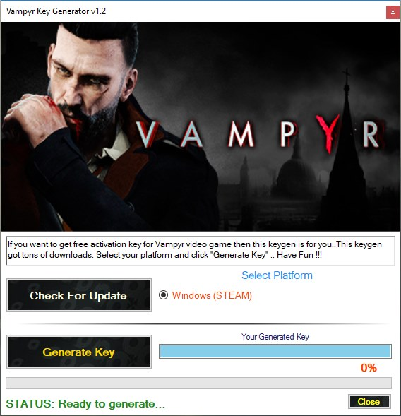Vampyr Key Generator Download