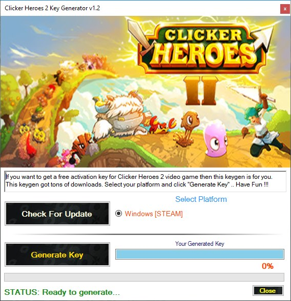 Clicker Heroes 2 CD Key Generator Download