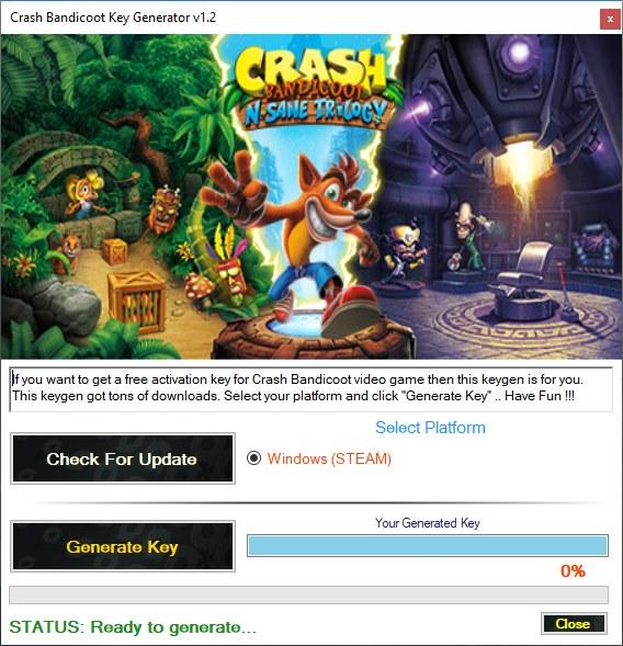 Crash Bandicoot Key Generator Télécharger gratuitement