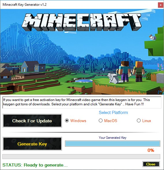 Minecraft Key Generator Download