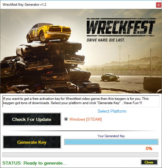 Wreckfest Key Generator Download