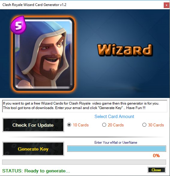 Clash Royale Wizard Card Generator Download