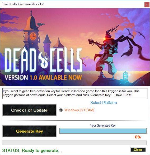 Dead Cells CD Key Generator Download Free