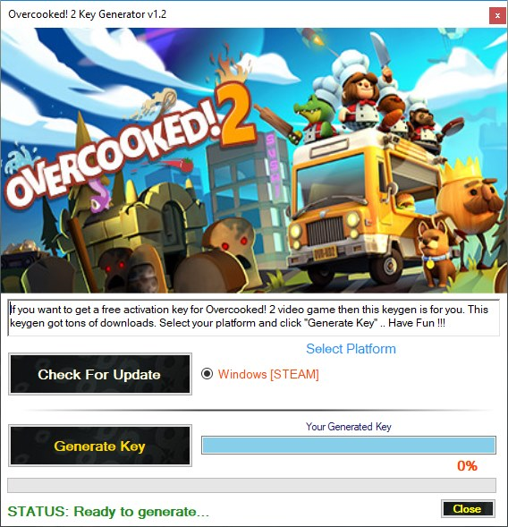 Overcooked 2 CD Key Generator Download Free