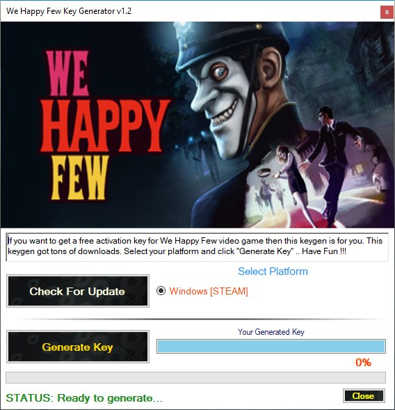 We Happy Few CD Key Generator download