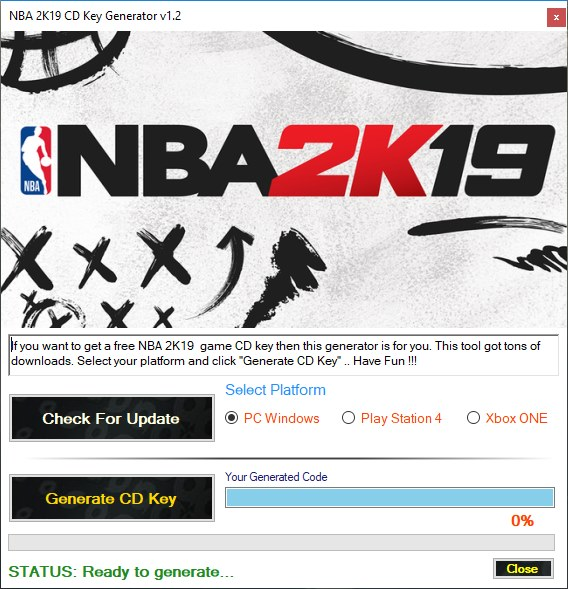 NBA 2K19 CD Key Generator (Free Product Keys)