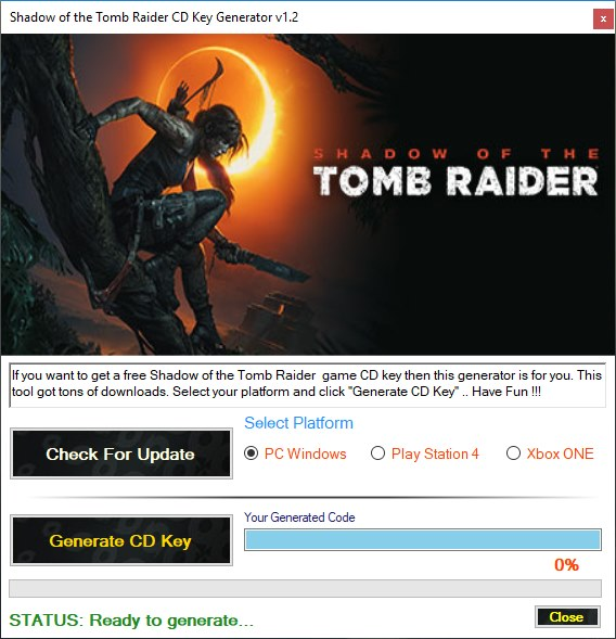 Shadow of the Tomb Raider Key Generator Download