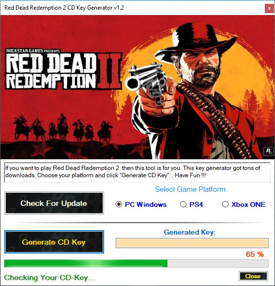Red Dead Redemption 2 CD Key Generator Download 2018